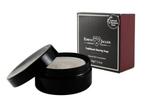 Edwin-Jagger-Savon-de-rasage-au-bois-de-santal-999-naturel-en-format-voyage-65-g-0
