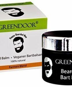 Greendoor-baume--barbe-soin-de-la-barbe-100-BIO-et-VGTALIEN-adoucit-les-barbes-aux-armes-naturels-de-citron-sublime-pot-pot-en-verre-noir-50-ml-moustache-beard-balm-0