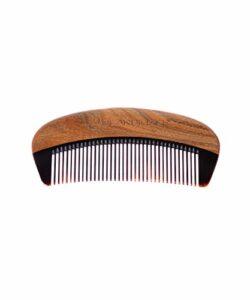 Beardilizer bois santal peigne barbe corne buffle