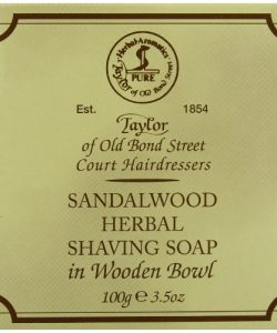 Taylor-of-Old-Bond-Street-Savon--Barbe-et-son-bol-en-bois-Sandalwood-0