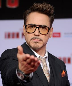"HOLLYWOOD, CA - APRIL 24: Actor Robert Downey Jr. arrives at the premiere of Walt Disney Pictures' ""Iron Man 3"" at the El Capitan Theatre on April 24, 2013 in Hollywood, California. (Photo by Kevin Winter/Getty Images)"