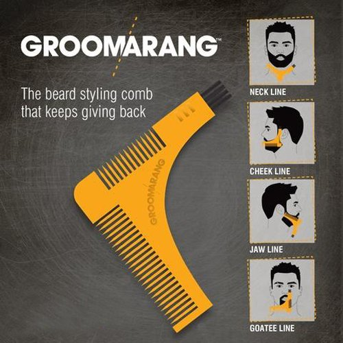 groomarang pochoir barbe peigne