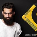 BARBMAN-Double-peigne–barbe-pour-un-rasage-prcis-des-contours-avec-brossette-de-nettoyage-pour-rasoir-cadeau-idal-pour-hipster-barbu-0-1