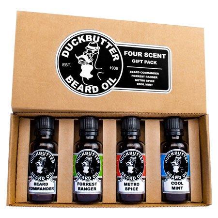 DUCKBUTTER-Huile-naturelle-pour-barbe-de-DuckButter-Naturel-et-bio-lot-de-4-Coffret-Cadeau-Beard-Oil-4-pack-0